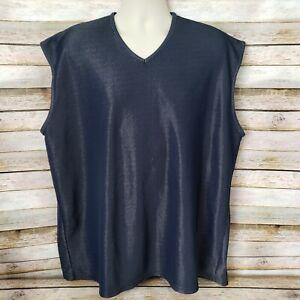 Mens Champion Athletic Apparel Black Mesh Shirt Size XXL Sleeveless Poly Blend