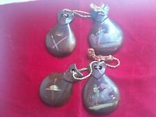 Vintage 1950's Hand Painted Castanets Made in Mexico Ships Free In Usa!