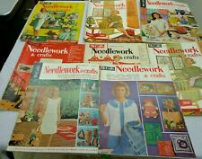 Lot of 8 McCall's VINTAGE McCALL'S  NEEDLEWORK & CRAFTS Magazines 1960's