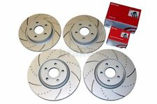 Ford Focus ST 2.5 Brake Discs and Brembo Pads Front Rear Dimpled Grooved ST225