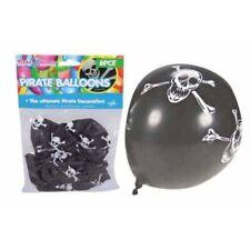 6pce Black Pirate/Skull & Cross Bones Balloons Black with Design