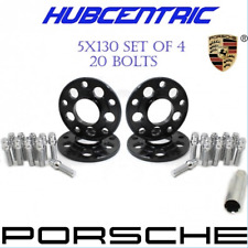 (4) 5x130 PORSCHE 15MM WHEEL SPACERS KIT (20) 14x1.5 SPLINE LUG BOLTS 71.50 HUB