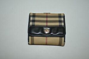 Burberry Nova Check Small Flap Snap Wallet