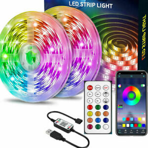 1-5M LED Strip Lights 5050 RGB Colour Changing Tape Cabinet Kitchen TV Lighting