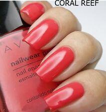 Avon Nailwear Pro+ Plus Nail Enamel Varnish Polish ' CORAL REEF ' shade NEW BOX