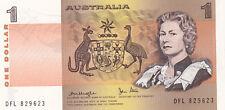 Australia $1 banknote KNIGHT Stone DFL almost  UNC