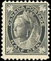 1897 Mint NH Canada F Scott #66 1/2c Maple Leaf Issue Stamp