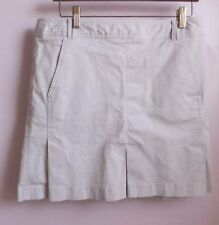 Ann Taylor LOFT cotton khaki skirt with inverted pleats and side zipper size 10