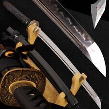 Samurai Sword Wakizashi Tamahagane Wakou Forging Steel clay tempered Blade #2065