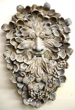 Leaf Face Mythical Man Classical Art Wall Sculpture Decor