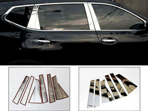 For Nissan X-Trail 2014-2019 Car Exterior Center Pillar Molding Cover Trim 6PCS