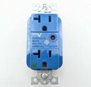 Hubbell 20A Hospital Grade Plug Receptacle Blue No Tamper Resistant HBL8362SA