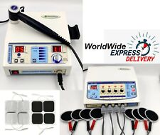 Advanced Combo 4 Channel Physical Therapy Unit Ultrasound 1mhz Therapy Machine