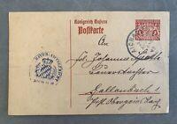 Briefmarken,Postkarte, Königreich Bayern,Ganzsache 10 Pfennig,Dienstmarke1919