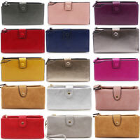 LeahWard Women's Soft Faux Leather Purse Wallet Wristlet Purse For Women