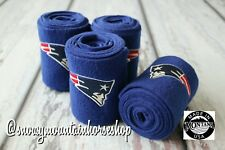 Horse Polo Leg Wraps Stable Wraps Set of 4, Embroidered New England Patriots