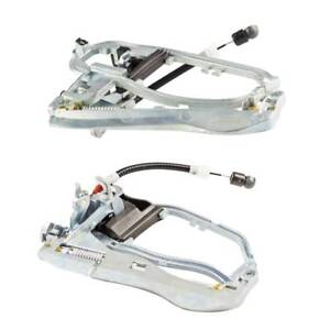 2Pcs Outside Door Handle Carriers for BMW X5 E53 2000-2006 Front Left & Right