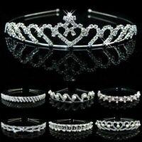 fleur crystal mariage, mariage couronne vague bandeau bande de cheveux pearl