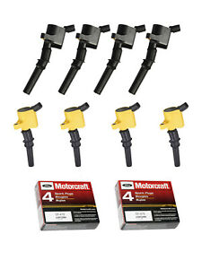 Heavy Duty Ignition Coils & Motorcraft Platinum Spark Plugs for Ford E250 DG508