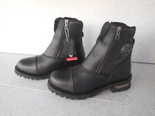 """NEW WOMENS SIZE 10 MILWAUKEE LEATHER DOUBLE ZIP 8"""" MOTORCYCLE BOOTS"""