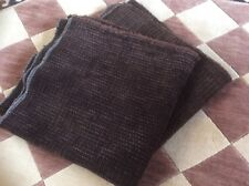 Multiyork fabric brown textured chenille remnant new ideal for scatter cushion
