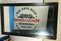 INNIS & GUNN EDINBURGH SCOTLAND COLLECTIBLE ADVERTISING BAR WALL MIRROR