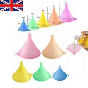 5 Pcs Colorful Plastic Funnel Variety Liquid Oil Kitchen Set  Small Medium Large