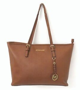Michael Kors Brown Saffiano Leather Large Tote Bag Purse