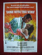 GONE WITH THE WIND * 1974 ORIGINAL MOVIE POSTER CLARK GABLE VIVIEN LEIGH NM-M