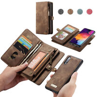 Removable Magnetic Wallet Case Flip Cover For Samsung Galaxy A20 A30 A40 A50 A70