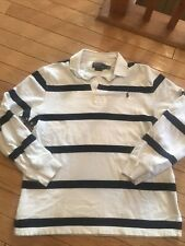 Polo Ralph Lauren Vintage Long Sleeve Rugby Shirt Large Stripped 90s