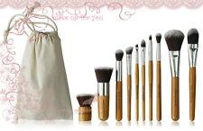 10 tlg. Pinsel Set Bambusstiel Kosmetik beauty makeup Brüssel Markenqualität.