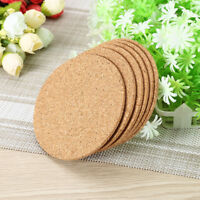 100pcs Drink Coaster Tea Coffee Cup Mat Pads Cork Wood Table Decor Tableware WM1