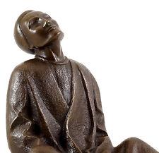 Bronzo personaggio-cieca mendicante (1906) - Firmato Ernst Paola