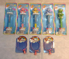 Wholesale Lot  40 Units -20 Care Bears Wobble Pens- 20 Necklace/Bracelets NWT