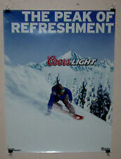 COORS COORS LIGHT SNOWBOARD SNOWBOARDER BEER POSTER