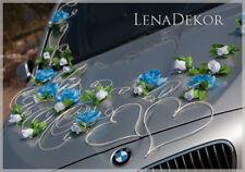 Aida Azul Blanco Boda Decoración del coche, cinta, Lazos, Prom Sedan Decoración