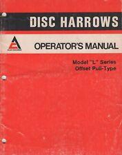"1976 ALLIS-CHALMERS DISK HARROWS MODEL ""L"" SERIES OPERATORS MANUAL 412269 (287)"