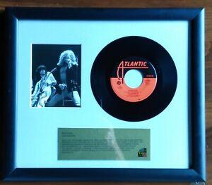 Vintage Led Zeppelin Now That's Music Framed Matted 13x15 Black Dog 45 & Photo