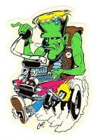 NEW COOP Frankenstein Drag Car Sticker
