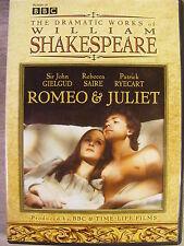 The Dramatic Works of William Shakespeare (Dvd) Sir John Gielgud/Rebecca Saire