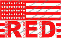 R.E.D.,Remember Everyone Deployed,Support Our Troops,Flag,Stickers,Vinyl Decal