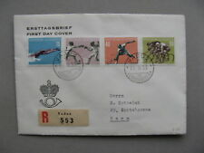 LIECHTENSTEIN, cover FDC 1958, tennis cycle-racing bicycle fencing swimming CV80