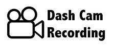 Dashcam registrazione Adesivo Decalcomania Dash Cam Sicurezza Stradale sistema di allarme 200 mm