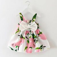 Toddler Kids Baby Girls Summer Dress Princess Party Pageant Wedding Tutu Dresses