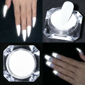 8g Glow In The Dark Reflective Nail Glitter Powder Dazzing Party Nail Art Dust
