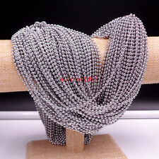 50pcs Lot Women Stainless Steel Bead Ball Chain Necklace 2.4mm 24'' fit pendant