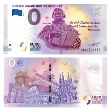 0-Euro Schein 2018 Luther Gottes Gnade Unc. / 8420472##