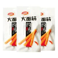 Chinese Food Weilong Latiao Snack Hotstrip Hot Gluten Latiao 106g*5 卫龙大面筋 辣条零食