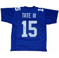 Golden Tate III Giants Autographed Blue Football Jersey JSA